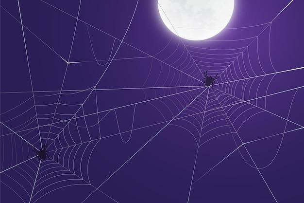 Tło halloween pajęczyna