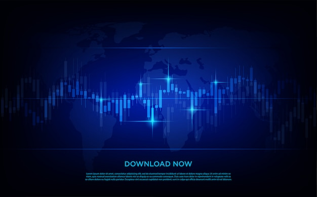 Tło handlowe z wykresami słupkowymi nowoczesnego i prostego obrotu giełdowego.