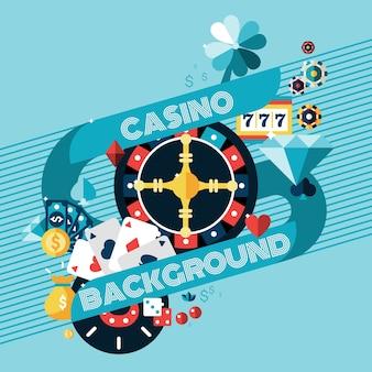 Tło hazard kasyna