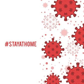 Tło ikony komórki koronawirusa, pandemia choroby wywoływanej przez wirusa covid-19. ilustracja