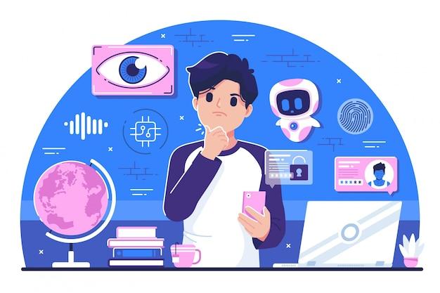 Tło ilustracja koncepcja szpiegostwa