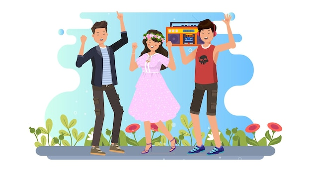 Tło ilustracja międzynarodowy dzień młodzieży