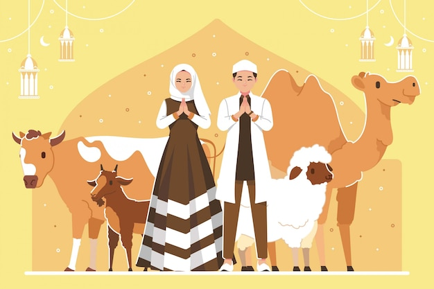 Tło ilustracji eid al adha