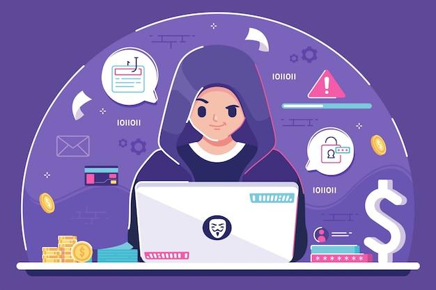 Tło ilustracji hakera