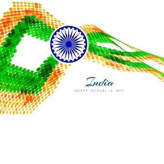 Tło indian dzień republiki w stylu półtonów