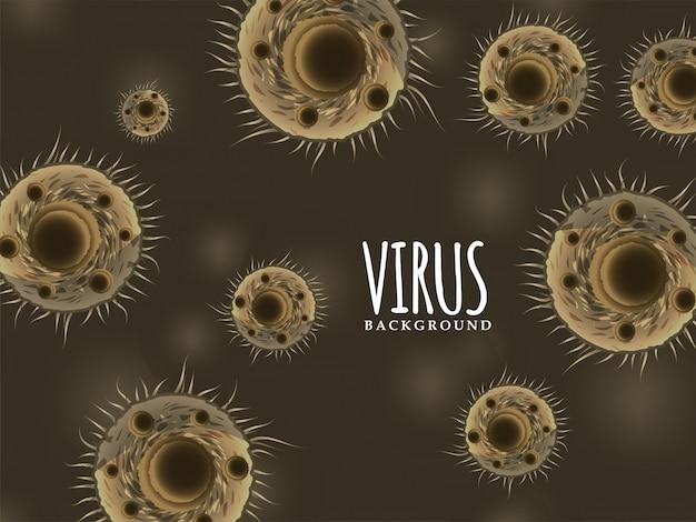 Tło infekcji rozprzestrzeniania wirusa