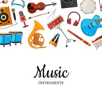 Tło instrumentów muzycznych