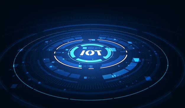 Tło iot. urządzenia internetu rzeczy i koncepcje łączności w sieci.