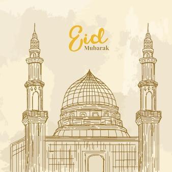 Tło islamskie eid mubarak