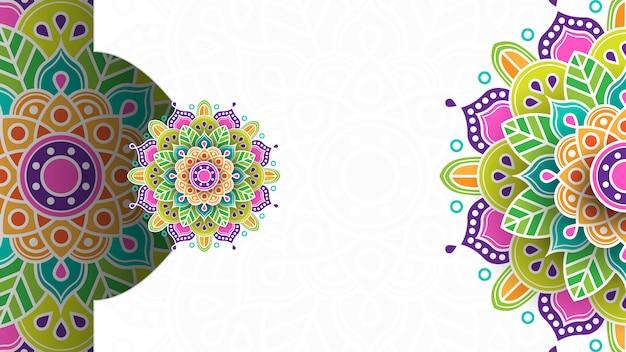 Tło islamskie z ornamentem na baner, zaproszenie itp.