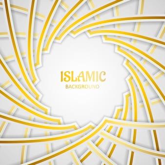 Tło islamskiego wektora premium