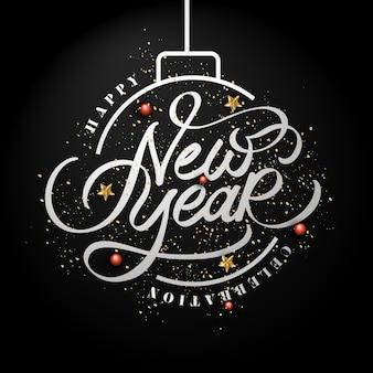 Tło kaligrafia obchody nowego roku