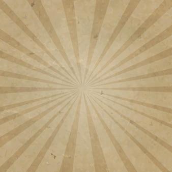 Tło kartonowe vintage sunburst