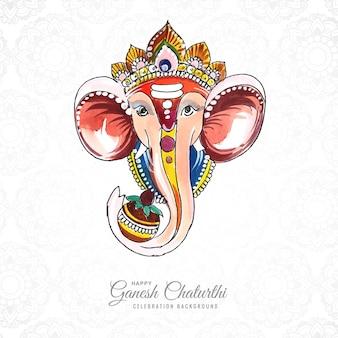 Tło karty festiwalu utsavganesh chaturthi