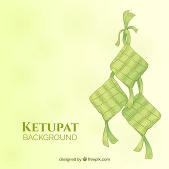 Tło ketupat