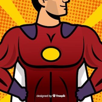 Tło klatki piersiowej superbohatera