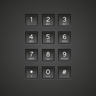 Tło klawiatury telefonu.
