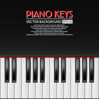 Tło klawiszy fortepianu