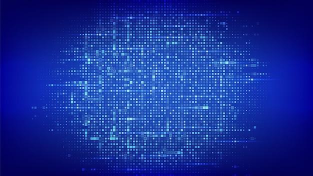 Tło kodu binarnego. matryca dane binarne i strumieniowy kod cyfrowy z cyframi 1 0 w tle.