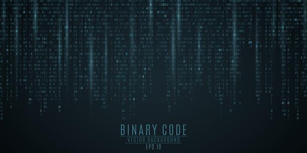 Tło kodu binarnego.