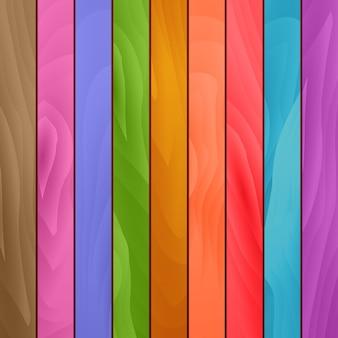 Tło kolorowe deski drewniane