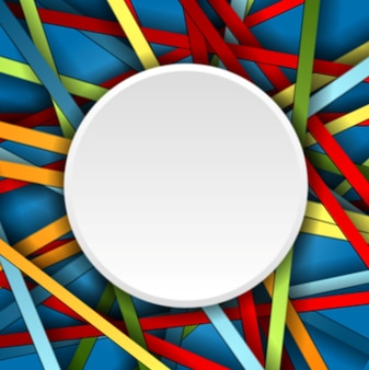 Tło kolorowe paski z pustym okręgiem