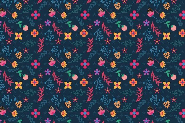 Tło kolorowy kwiatowy ditsy