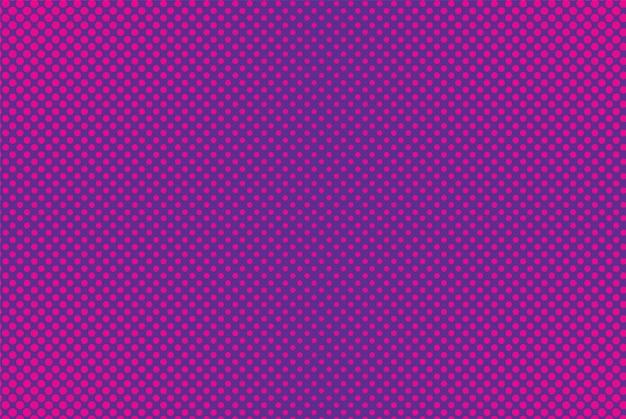 Tło komiks pop-artu. wzór półtonów. fioletowy różowy nadruk w kropki. vintage tekstury kreskówka