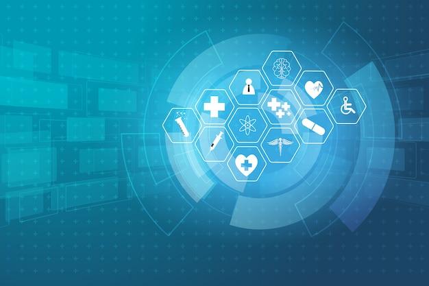 Tło koncepcja innowacji medycznych opieki zdrowotnej nauki