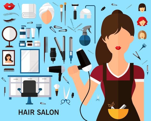 Tło koncepcja salon fryzjerski.