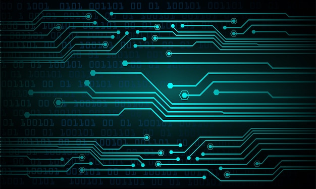 Tło koncepcja technologii przyszłości niebieski cyber obwodu