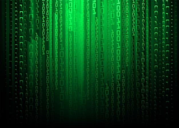 Tło koncepcja technologii przyszłości zielony binarny obwód cyber