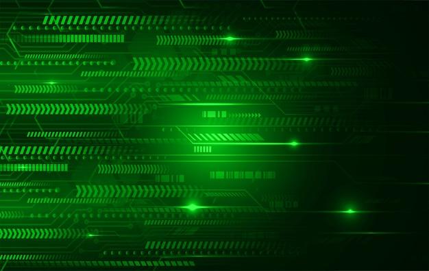 Tło koncepcja technologii przyszłości zielony cyber obwód