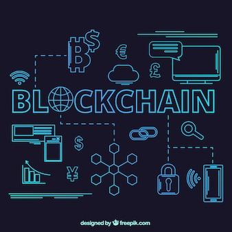 Tło koncepcji blockchain