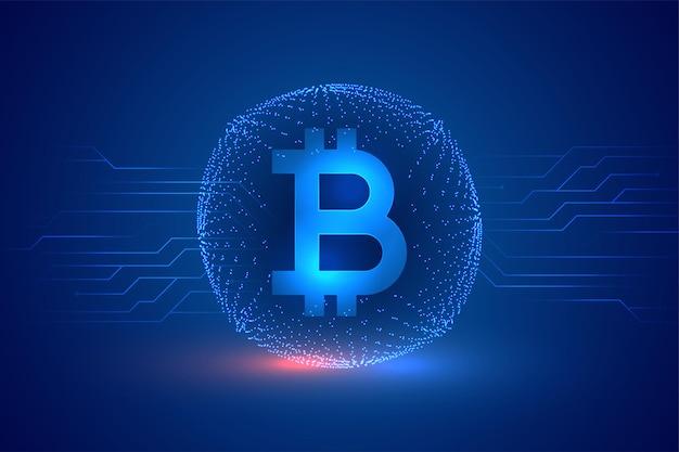 Tło koncepcji cyfrowej kryptowaluty bitcoin blockchain