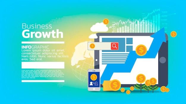 Tło koncepcji szablonu wzrostu biznesu