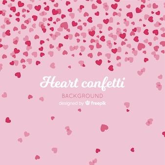 Tło konfetti serca