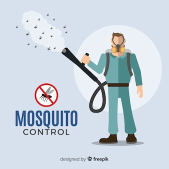 Tło kontroli komara