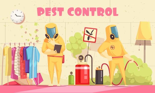 Tło kontroli szkodników domowych