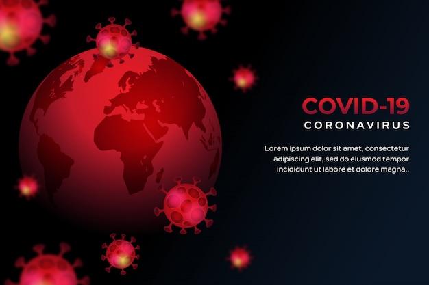Tło koronawirusa covid-19
