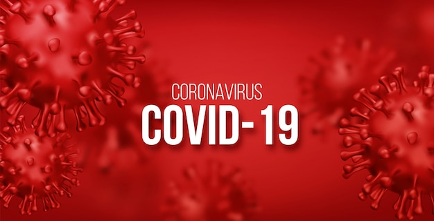 Tło koronawirusa