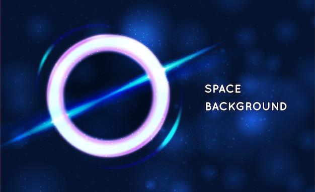 Tło kosmiczne. czarna dziura