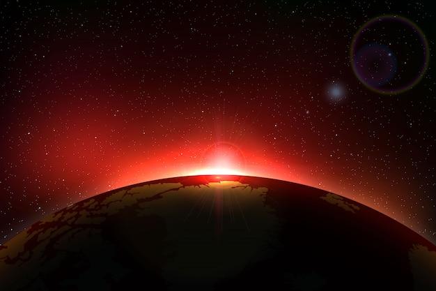 Tło kosmiczne z całkowitym zaćmieniem słońca dla twojego projektu