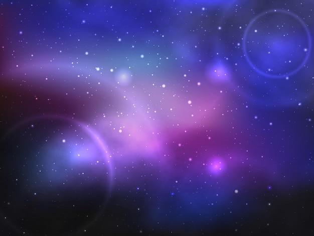 Tło kosmiczne z mgławicą i gwiazdami