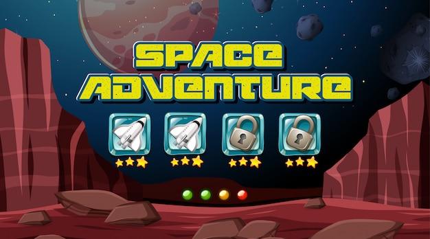 Tło kosmicznej gry przygodowej