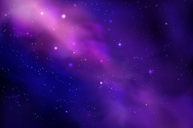 Tło kosmosu z realistycznym gwiezdnym pyłem; mgławica i świecące gwiazdy. kolorowe galaktyki tło.