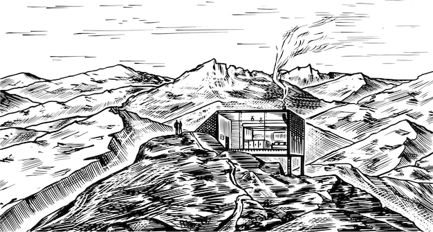 Tło krajobraz górski