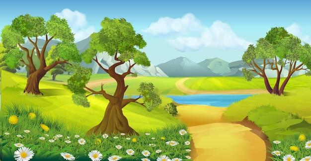 Tło krajobraz natura