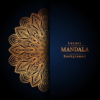 Tło kreatywnych luksusowych mandali