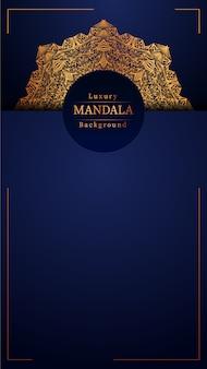Tło kreatywnych luksusowych ozdobnych mandali